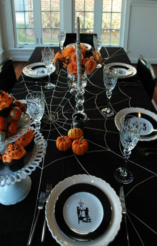 mesa cena de halloween