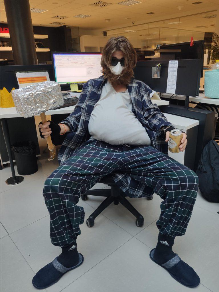 Disfraz Thor gordo